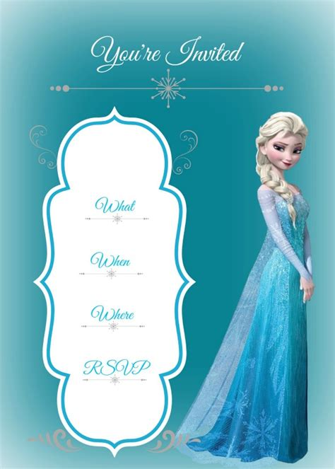 free printable invitations frozen frozen birthday party busy mom s helper