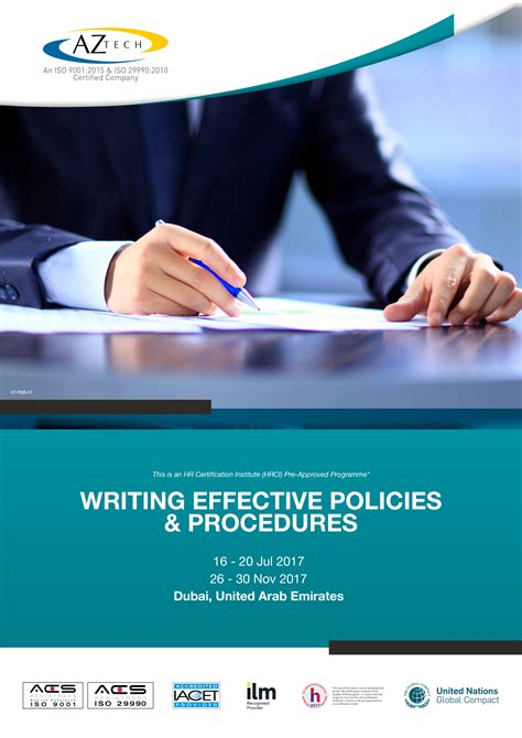 Mini Mba Courses In Cairo by Writing Effective Policies Procedures