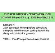 The REAL Difference Between High School In 1970 Vs 2015