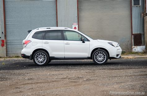 white subaru forester 2016 subaru forester ts sti review video performancedrive