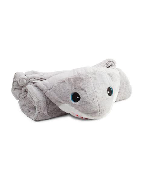 stuffed shark sleeping bag shark plush sleeping bag baby room t j maxx