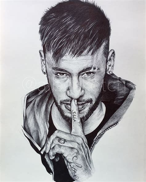 Drawing Sketches O by Neymar Jr By Albasketch Draw Drawing Illustration