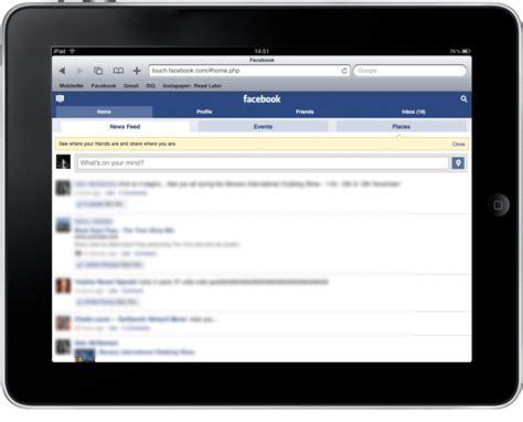 fb touch 4 solutions pour utiliser facebook sur ipad ithink fr