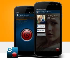 rhapsody apk rhapsody launches songmatch app for android