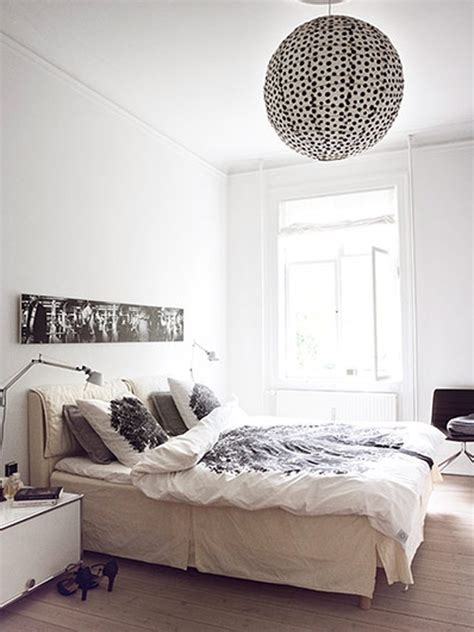 danish design home decor futuristic white apartment with casual bedroom in danish