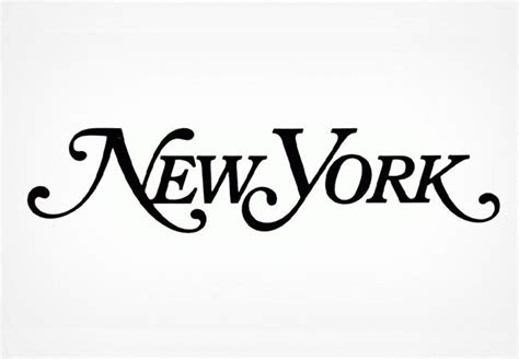 logo design nyc new york magazine logo designer not known design