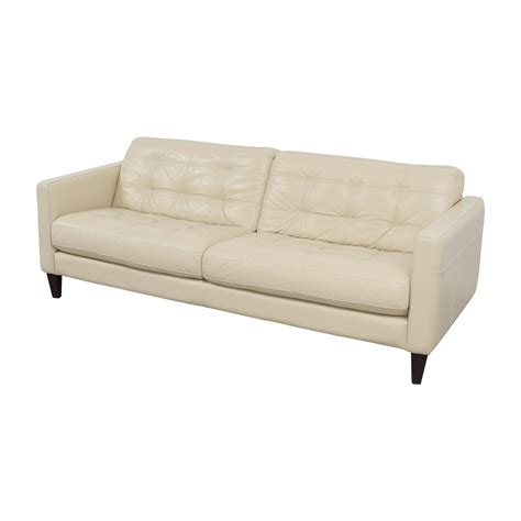 macys leather sofas on sale 48 macy s macy s white leather tufted sofa sofas