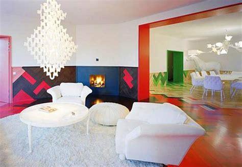bright colour interior design modern interior design with breathtaking rainbow color