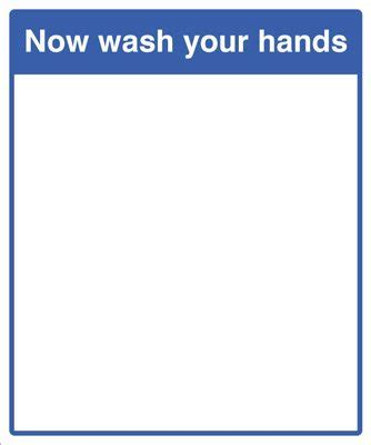mirror message now wash your hands 405x485mm really
