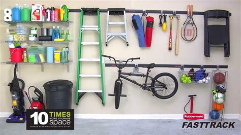 garage organizer systems rubbermaid fasttrack garage organization system