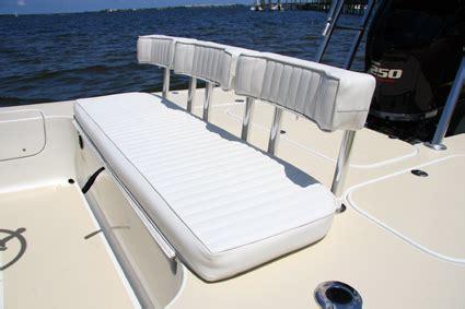 boat bench seat backrest egret 20 florida sportsman