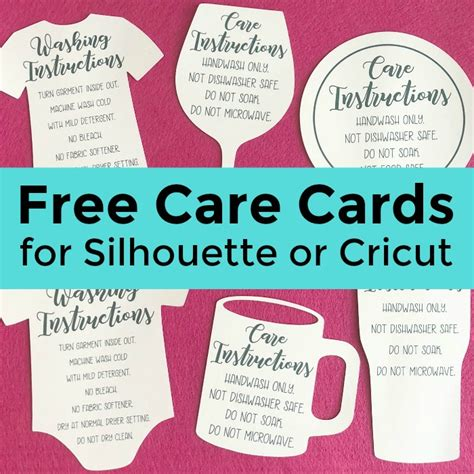 Free Nursing Card Template by Free Shaped Printable Care Cards For Your Silhouette Or