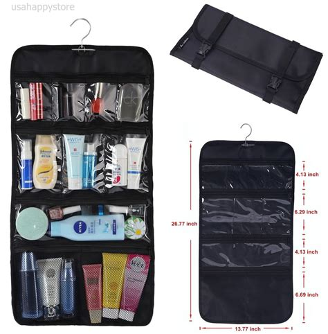 Bathroom Toiletry Storage Packing Organizer Hanging Clear Storage Bag Toiletry Travel Folding Bathroom New Ebay