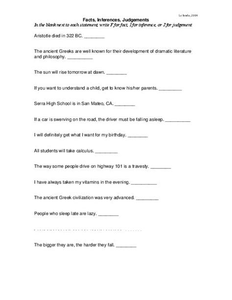 Inference Worksheets 5th Grade by 14 Best Images Of Inferences Worksheets 7th Grade