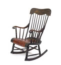 antique wood rocking chair decosee