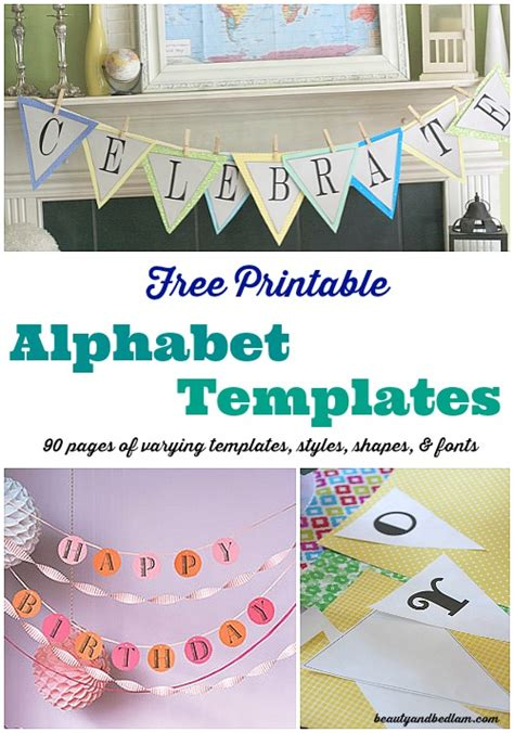 free printable fonts for banners free letter templates for banners gallery download guide