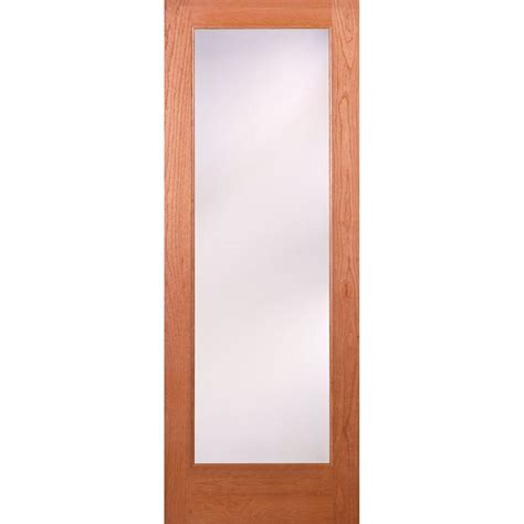 home depot wood doors interior feather river doors 36 in x 80 in 1 lite unfinished cherry privacy woodgrain interior door