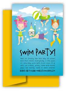 swim invitation