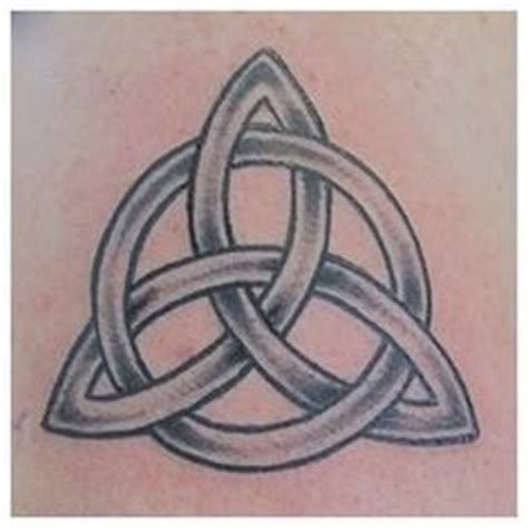 tribal triquetra tattoo catholic holy symbol who we are eternal church