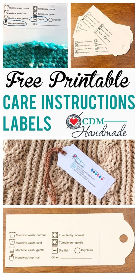 Care Labels For Handmade Items - free printable care labels for crafters cdm
