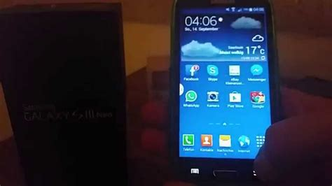 themes galaxy s3 neo samsung galaxy s3 neo test youtube