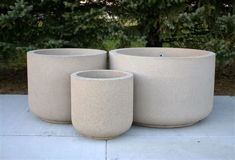 concrete planters for sale planters inspiring large round concrete planters used