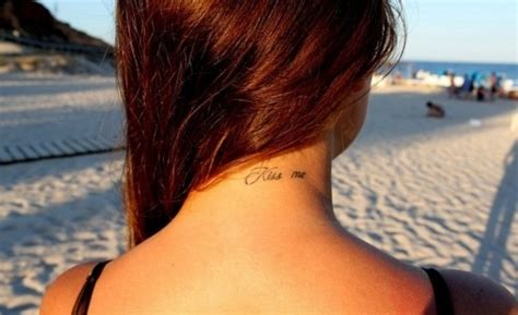 tattoo quotes for back of neck neck kissing quotes quotesgram