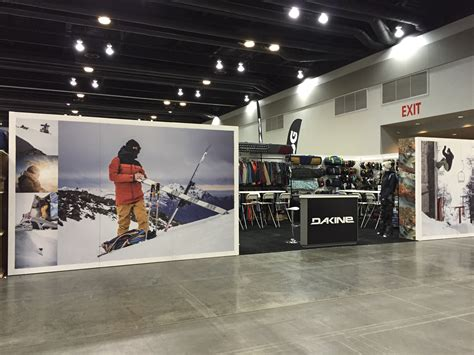 trade show booth design vancouver dakine know show vancouver by mackenzie exhibit graphics