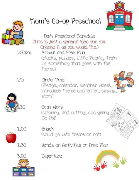 preschool daily schedule template top 25 ideas about daily schedule template on