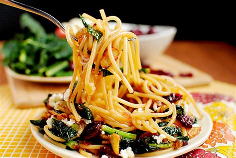 best dried pasta pasta with toasted garlic dried cranberries kale