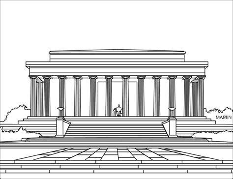 Lincoln Memorial Clip Art 24 Lincoln Memorial Coloring Page