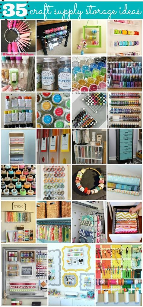 Paper Craft Storage Solutions - 35 crafty craft storage solutions craft supplies