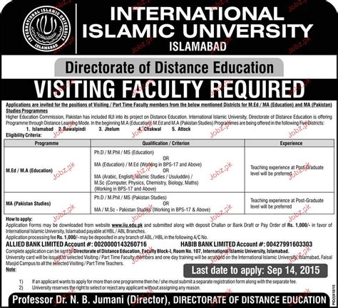 Isb Distance Mba by Visiting Faculty In International Islamic