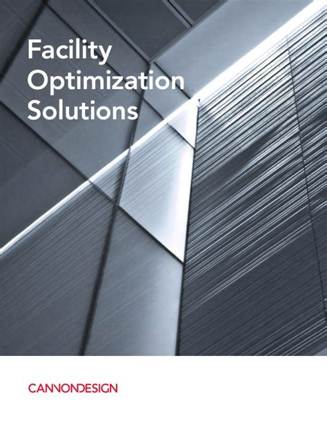 facility layout optimization ppt facility optimization solutions brochure