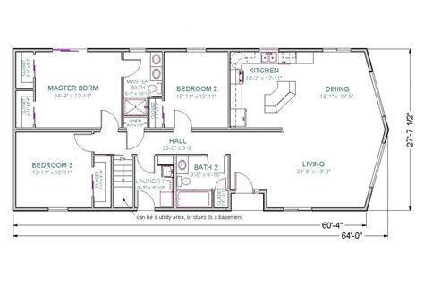basement plan unique ranch house floor plans with walkout basement