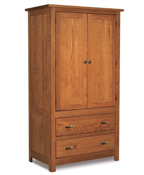 2 door armoire flush mission 2 drawer 2 door armoire amish direct furniture