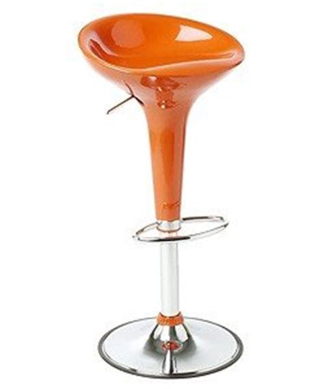 Orange Substance In Stool by Pair Of Orange Modern Adjustable Counter Swivel Bombo Pub