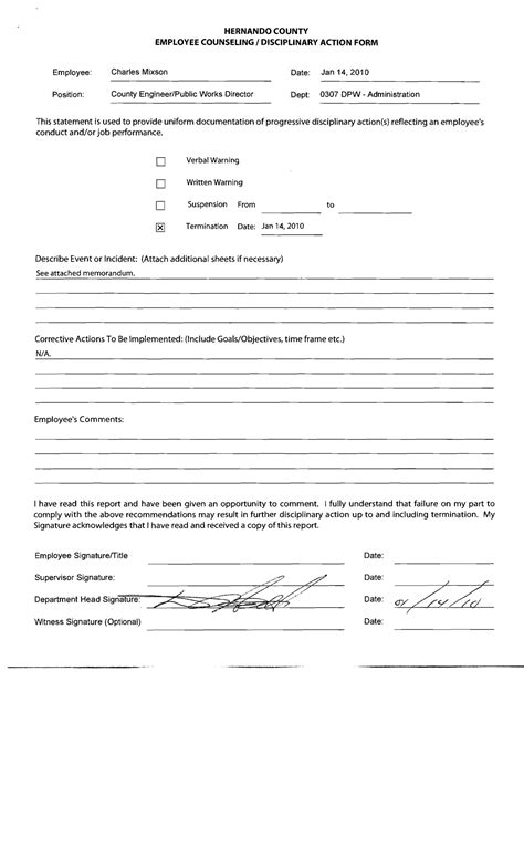 employee counseling form template pictures to pin on
