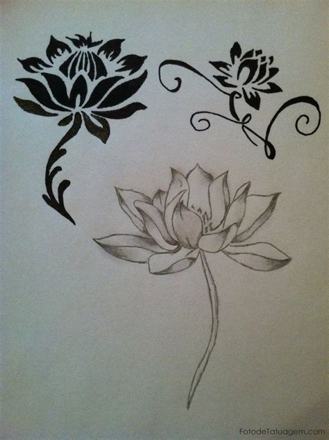 tattoos de flores lotus flower tribal studio design gallery