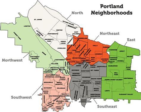 portland neighborhood map portland neighborhood map portland seattle stuff
