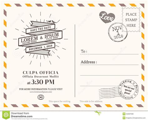 post card template event background vintage postcard background template for wedding