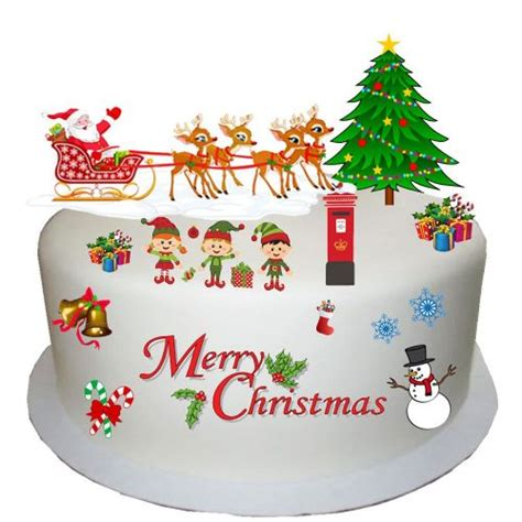 vintage traditional christmas edible wafer card cake