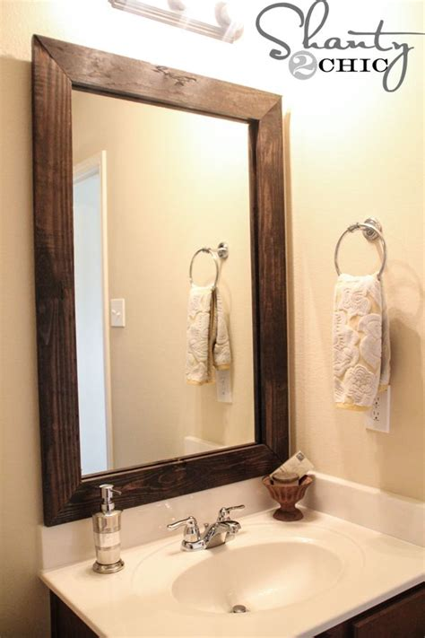 do it yourself framing a bathroom mirror best 25 frame bathroom mirrors ideas on pinterest