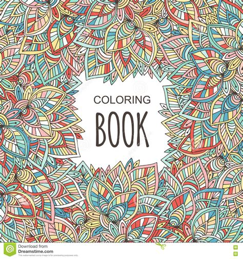coloring book album coloring book cover autumn colorful ornament