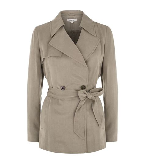 Cropped Trench Coats by Reiss Radel Cropped Trench Coat In Beige Lyst