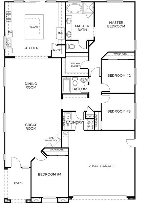 1000 images about floor plans on pinterest house plans 3 bedroom rectangular house plan 1000 images about house