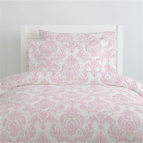 pink damask bedding pink painted damask duvet cover carousel designs