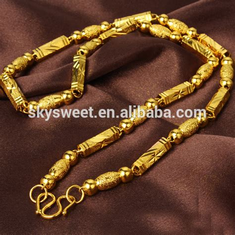 Eropah White Gold 40 gold covered chain necklace cheap 24k gold