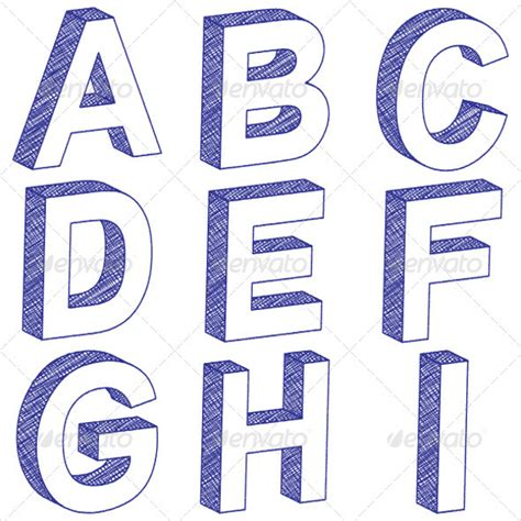 3d letter templates how to draw 3d letters www imgkid the image kid