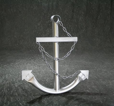 speed boat anchor steel navy boat anchor with chain 24 quot silver